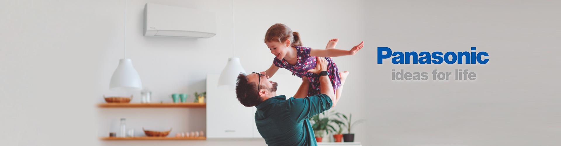 Panasonic condizionatori papà con bambina